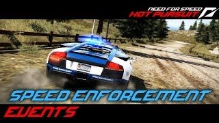 NFS: Hot Pursuit (2010) Playlist: https://www.youtube.com/playlist?list=PLi-a_-JYhWjsi7Zt9vGoZFpXuI0uUhBd4* Speed Enforcement- Arms Race (00:20)• Five racers are heading for Eagle Crest packing specialist counter-measures. Pick a car with the power you need to bust all five before they reach the end of Eagle Crest Road.• Used ride: Ford GT- Fight Night (04:55)• Be prepared for your target trying to ram you off the road.• Used ride: Bentley Continental Supersports Coupe- Untouchable (07:37)• Race to the North end of East Gorge Freeway. Avoid time penalties by getting there in one piece.• Used ride: Lamborghini Murciélago LP 640- Tough Justice (12:00)• Keep your driving skills sharp to stay in touch with an Aston Martin One-77.• Used ride:  Lamborghini Murciélago LP 640- Weapon of Choice (14:25)• A stolen Pagani Zonda Cinque, equipped with all the latest hardware, has been located. Stopping it will not be easy.• Used ride: Ford GT- Sunset Scalpel (16:09)• Get from Sunset Drive to the end of Carson Ridge as fast as you can. Damage to the car will add time penalties, so be careful!• Used ride: Bentley Continental Supersports Coupe- Charged Attack (21:12)• Stop the racers before they reach the forest around Bear Hollow. Select something fast because these guys are all in lightweight exotics.• Used ride: Dodge Viper SRT 10 ACR- Dust Storm (24:41)• Get ready to take the action off-road as you take on six suspects racing West out of the desert.• Used ride: Dodge Viper SRT 10 ACR- Desert Strike (27:36)• Your target was last seen heading into the desert. Make sure they leave it in custody.• Used ride: Lamborghini Murciélago LP 640- Priority Call (29:38)• Respond to the emergency call - get to the end of Coral Bay Drive as fast as you can. Avoid time penalties by driving without hitting anything.• Used ride: Lamborghini Murciélago LP 640- Heavy Hitters (34:08)• Six fast, aggressive suspects must be brought to heel before they reach the end of Westbeach Freeway. You know what to do.• Used ride: Ford GT- Takedown Notice (37:55)• Keep your vehicle intact, this racer has a history of wrecking police vehicles.• Used ride: Chevrolet Corvette ZR1Used device: KeyboardRecording Software: Shadowplay (NVIDIA GTX 760)Video Editing Software: Adobe Premiere Pro CS6
