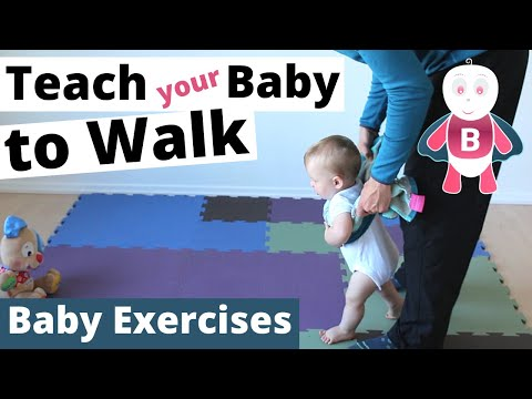 How to Teach Baby to Walk - Baby Exercises #9-12+ Months - Baby Activities, Baby Development