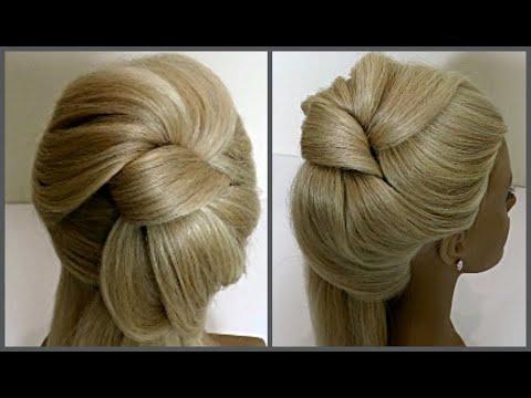 Short hair styles - Прическа в виде Банта.Обучение прическам.Course on hairstyles.Beautiful hairstyles.