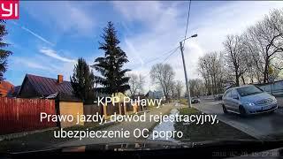 Kamerka uratowała go od mandatu! Nieudane polowanie na jelenia drogówki z Puław!