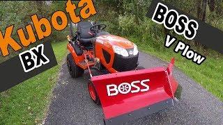6. Kubota BX snow plow - Boss UTV V plow XT