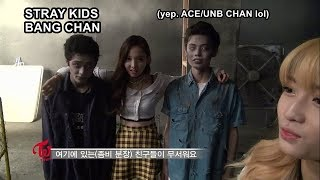 Stray Kids' Chan appearance in TWICE's Like OOH-AHH MV making
