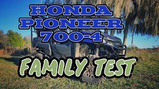 7. 2019 Honda Pioneer 700-4 Family Test! 4-up offroading at the Jeep Ranch