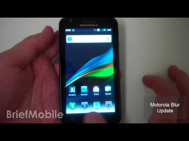 Motorola Atrix Gingerbread Android 2.3.3