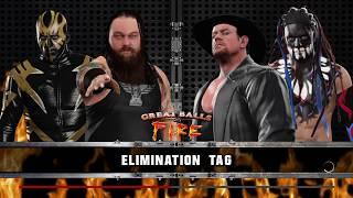 Elimination Tag Match with Undertaker & Demon Finn Bálor VS Goldust & Bray Wyatt