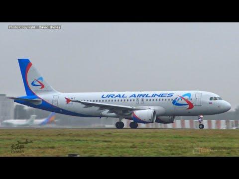Самолет Уральских авиалиний в лондонском аэропорту Станстед