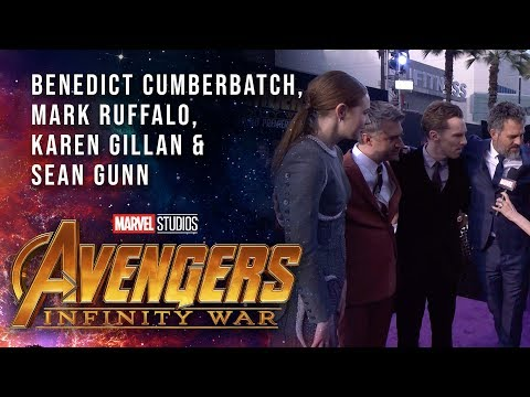 Vengadores: Infinity War - Ruffalo, Cumberbatch, Gillan and Gunn Live at the Avengers:Infinity War Premiere?>