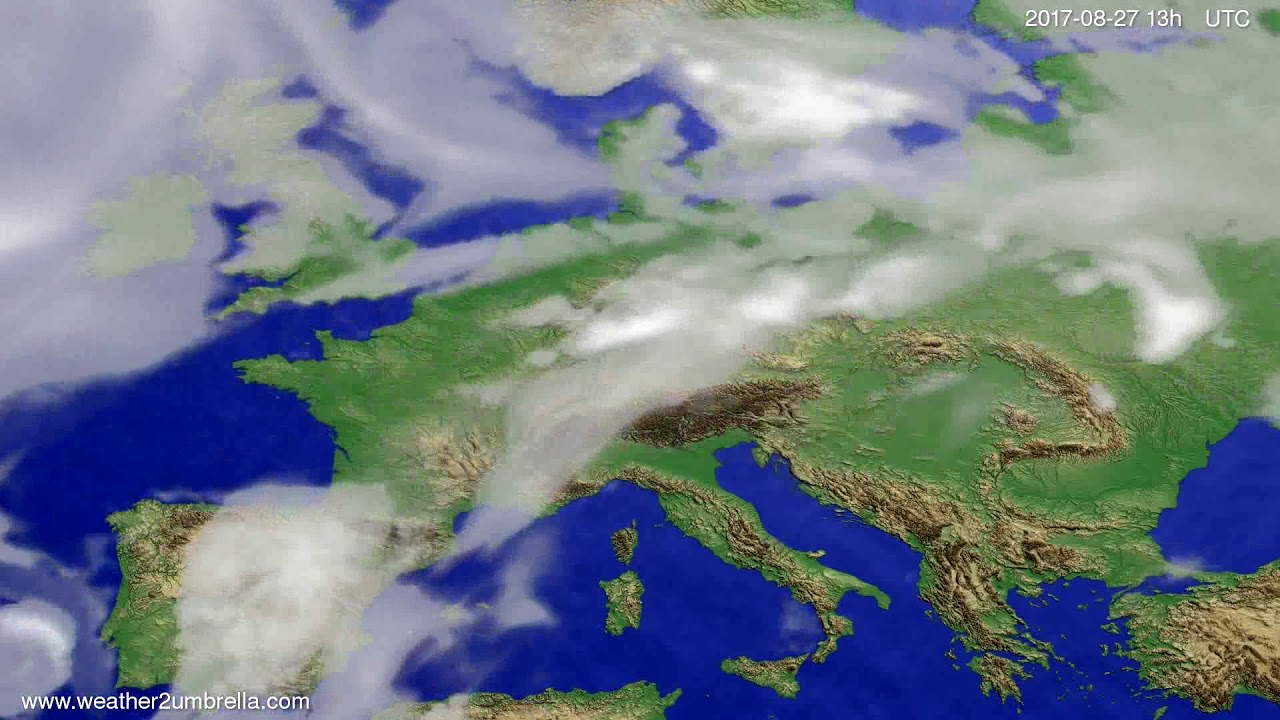 Cloud forecast Europe 2017-08-24