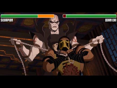 Scorpion vs. Quan Chi WITH HEALTHBARS | HD | Mortal Kombat Legacy: Scorpion's Revenge
