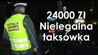 24000zł kary za pseudo-taksówkę. ITD w akcji.
