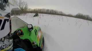 10. Arctic cat z570 in powder