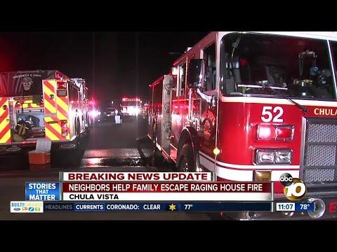 Neighbors help family escape Chula Vista house fire