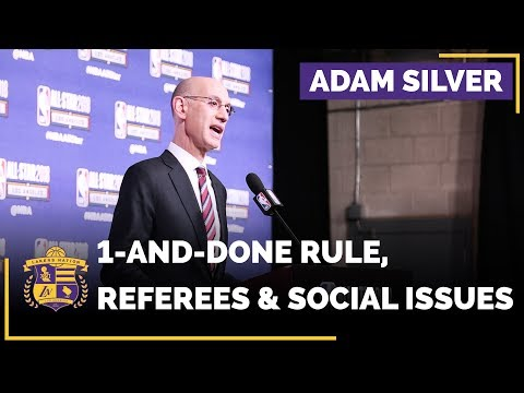 Video: NBA Commissioner Adam Silver Addresses One-And-Done Rule, Referees And Social Issues