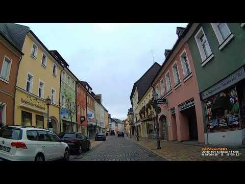 D: Große Kreisstadt Marktredwitz. Landkreis Wunsiedel. Kleine Stadtrundfahrt. November 2017