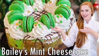 Irish Cream Mocha Mint Cheesecake by Tatyana's Everyday Food