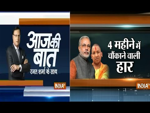 16 - Subscribe to Official India TV YouTube channel here: http://goo.gl/5Mcn62 Aaj Ki baat with Rajat Sharma September 16, 2014: BJP's string of bypoll losses continues Social Media Links: ...