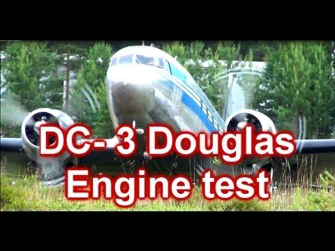 DC- 3 Douglas engine test. Finland,...