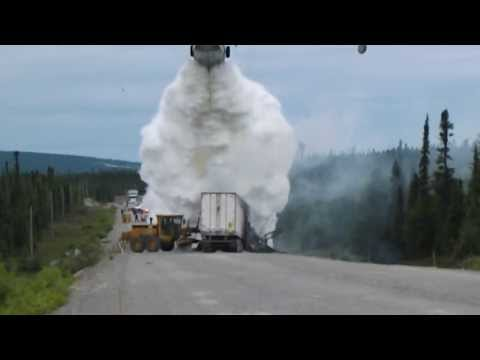 Water Bomber at Trans Labrador Highway Accident