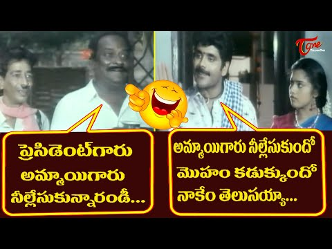 Nagarjuna And Meena Best Comedy Scenes | Telugu Movie Comedy Scenes | NavvulaTV