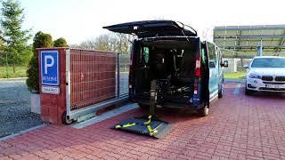 Nakládací zařízení elektrického vozíku JOEY LIFT 001 ve voze OPEL Vivaro-B