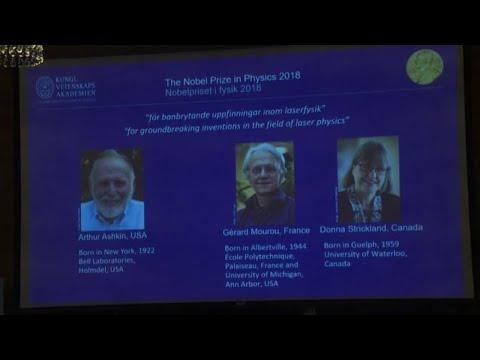 Il Nobel per la Fisica va ai tre pionieri dei laser