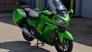 8. $15,499:  2015 Kawasaki Concours 14 ABS Candy Lime Green Overview and Review