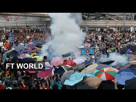 tear - Police fired tear gas canisters at students and pro-democracy campaigners camped out near the Hong Kong government offices on Sunday. The FT's Demetri Sevastopulo reports from inside the protest...