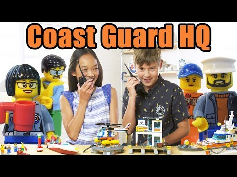 HUGE LEGO City Coast Guard Headquarters Review - The Build Zone Season 5 Episode 8 (видео)