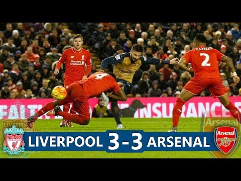 Liverpool 3-3 Arsenal  Highlights (HD)