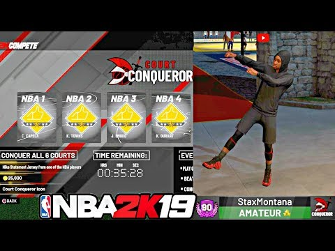 HOW TO WIN EVERY NBA 2K19 COURT CONQUEROR GAME! FASTEST AND EASIEST METHOD! - NBA 2K19 MyPARK