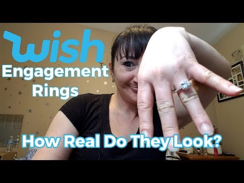 Trying On WISH Engagement Rings