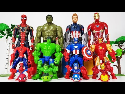 Avengers Smaller & Bigger Transformation, Go~! Hulk, Iron man, Spider Man, Captain America