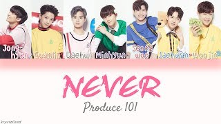Video [Produce 101] Nation's Son (국민의 아들) - NEVER [HAN|ROM|ENG Color Coded Lyrics] MP3, 3GP, MP4, WEBM, AVI, FLV Juli 2018