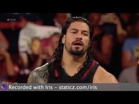 RAW WWE Universal Championship Match: Seth Rollins vs Kevin Owens vs Big Cass vs Roman Reigns.