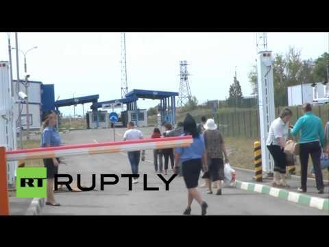 "Russia: Humanitarian convoy held up at Ukrainian border amid ""security fears"""