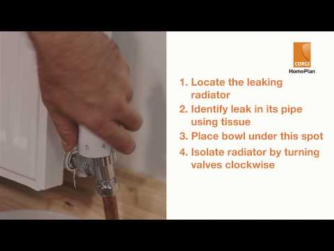 How to fix a radiator leak