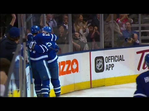 Video: Interesting chain of events: Marner gets hit, Martin fights & Hyman scores