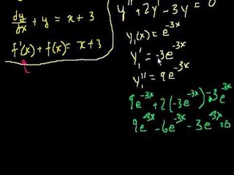 Differentialgleichungen lösen - Definition