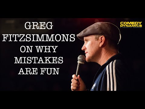 Greg Fitzsimmons - Mistakes Are Fun (Stand up Comedy)