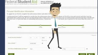 This video will show you how to create your FSA ID.