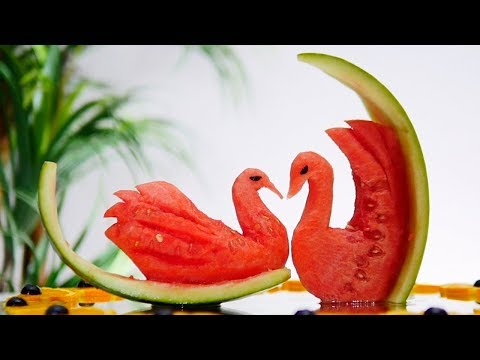 Amazing Watermelon Swan | How To Make?