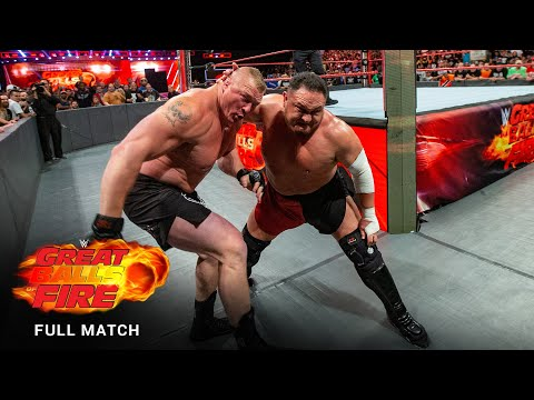 FULL MATCH - Brock Lesnar vs. Samoa Joe – Universal Title Match: WWE Great Balls of Fire 2017