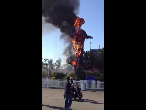 Big Tex Burns at Texas State Fair