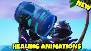 All NEW HEALING ANIMATIONS Gameplay in Fortnite