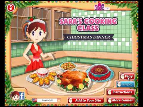Christmas Party Games For Kids : Sara's Cooking Class  Christmas Dinner Gameplay Tutorial-Xmas Event