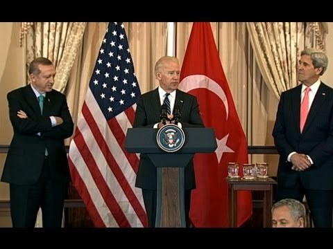 Erdogan; - Vice President Joe Biden and Secretary of State John Kerry participate in a lunch at the State Department honoring Prime Minister Erdogan of Turkey.