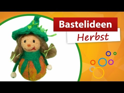 Bastelidee Herbst | Kürbismännchen basteln