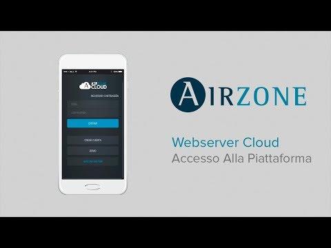 Webserver Airzone Cloud: Accesso alla piattaforma