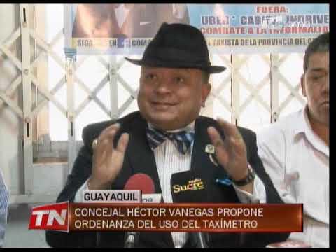 Concejal Héctor Vanegas propone ordenanza del uso del taxímetro