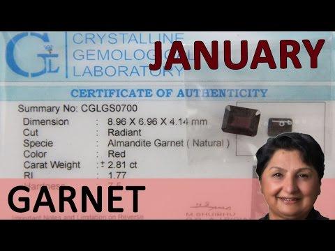 Gemstone of the Month: January - Garnet For Earth Energy